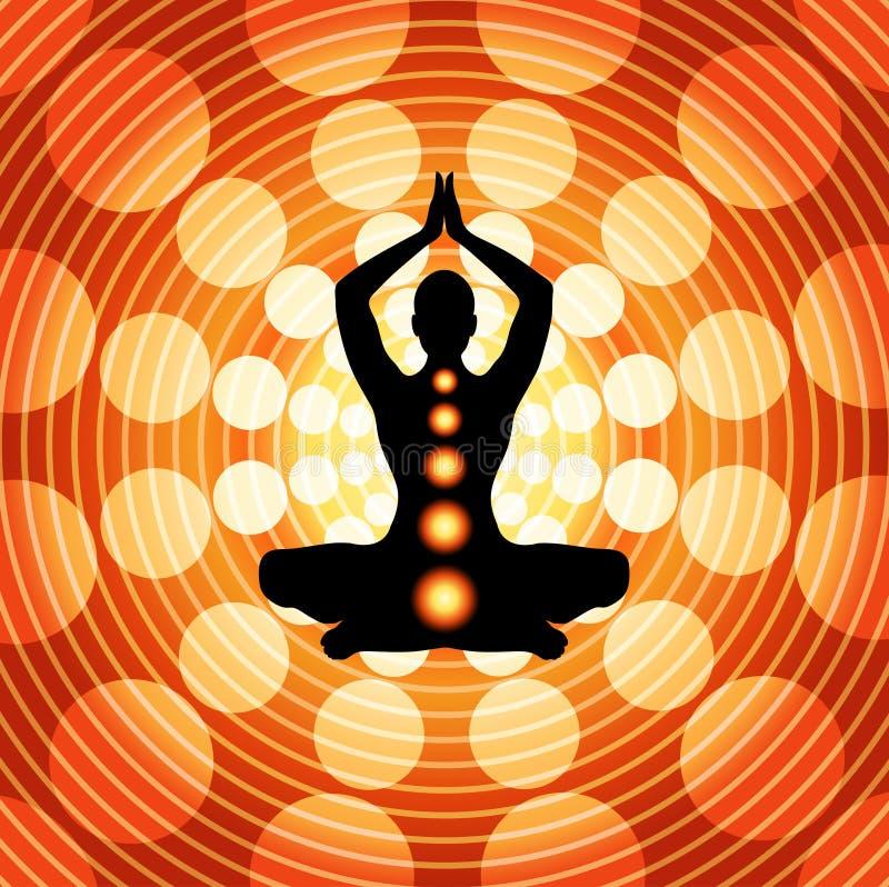 Ioga - meditação ilustração stock