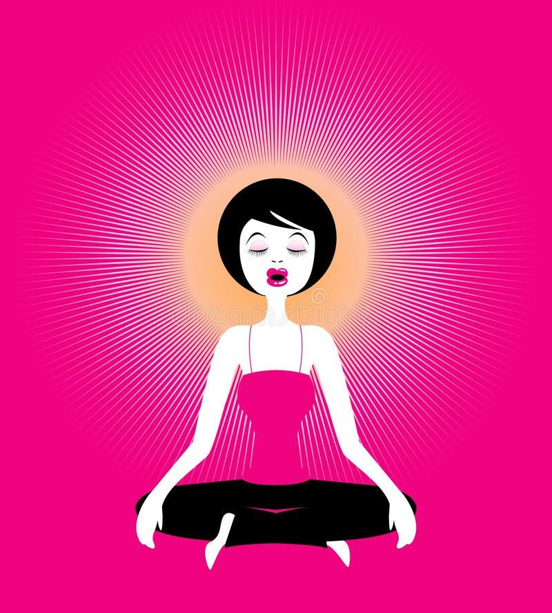 Ioga-meditação, ilustração fotografia de stock royalty free
