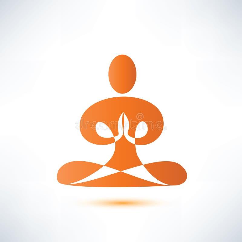 Ioga, símbolo da meditação ilustração do vetor