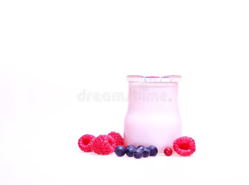 Iogurte de fruta imagem de stock royalty free