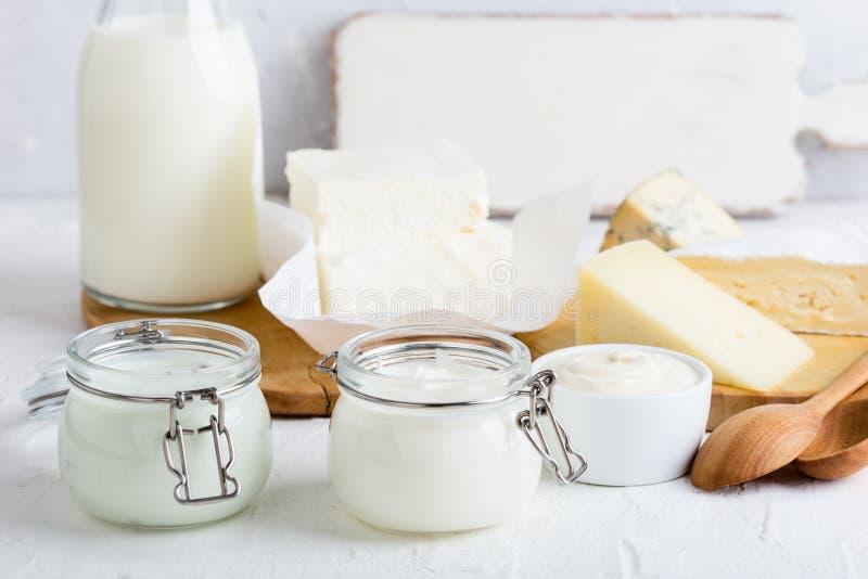 Iogurte Produtos láteos orgânicos frescos foto de stock