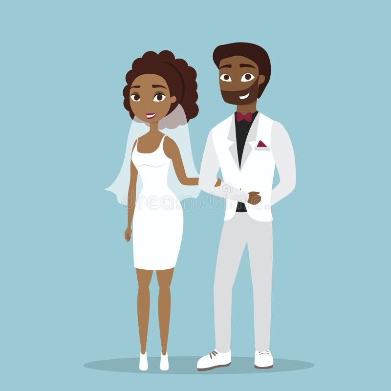Iolated ślubu para royalty ilustracja