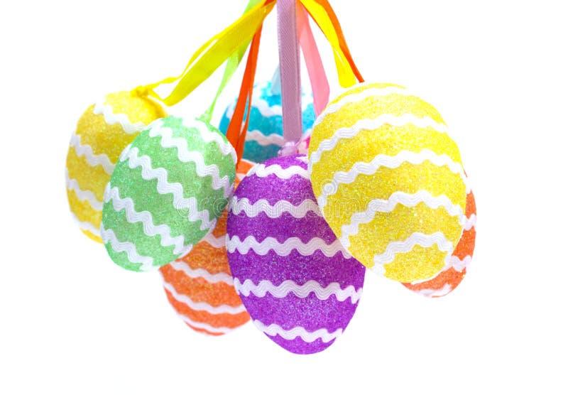 Iolated Wielkanocni jajka zdjęcia stock