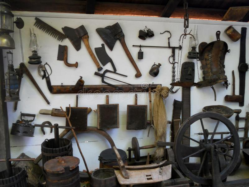 Ion Creanga, Chambre commémorative, village Humulesti, neamt de Targu photographie stock