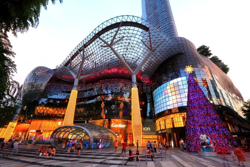 ION Orchard-winkelcomplex Singapore stock afbeelding