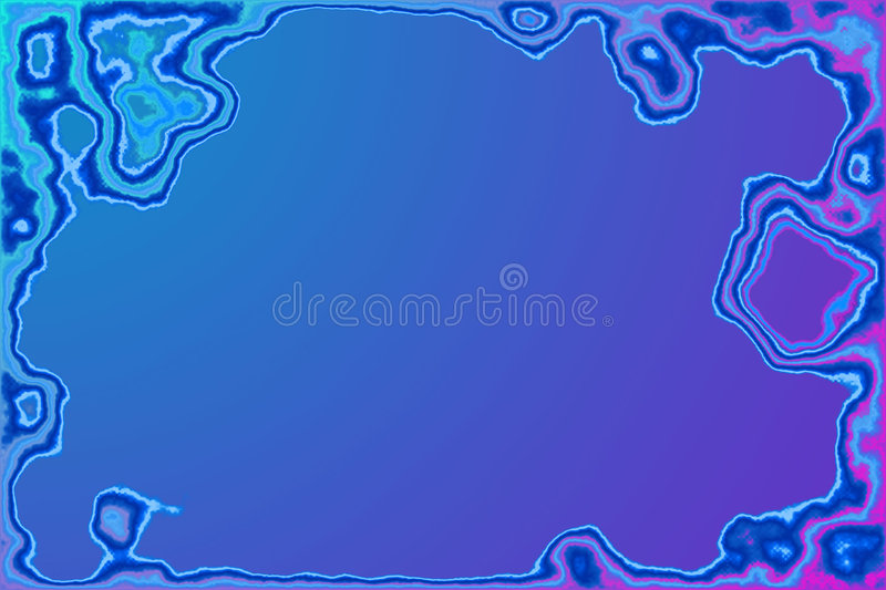 Ion Water frame vector illustration