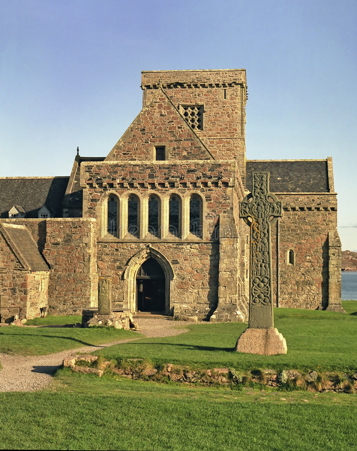 Iona Abbey stock images
