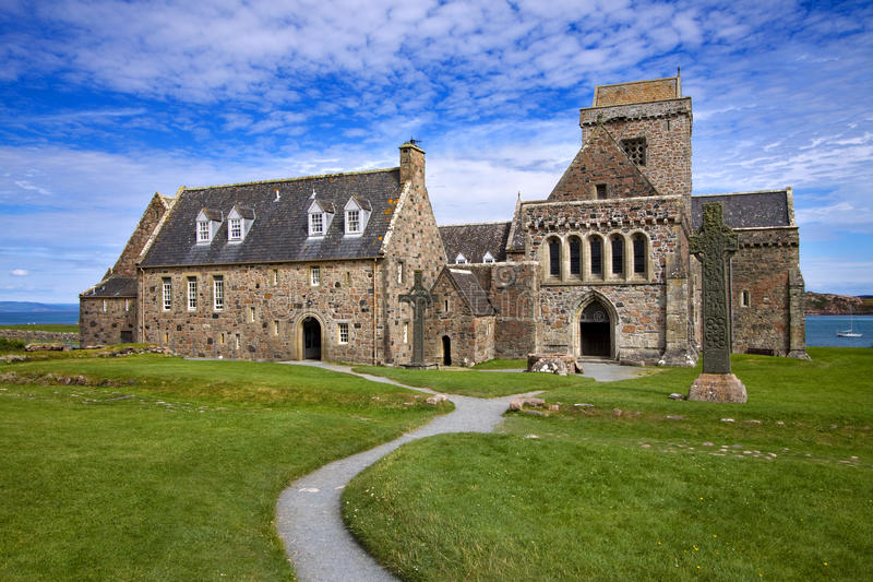 Iona Abbey. On the Isle of Iona in the Inner Hebrides on the West Coast of Scotland. Founded by Columba in 563AD this is one of the most important religious and