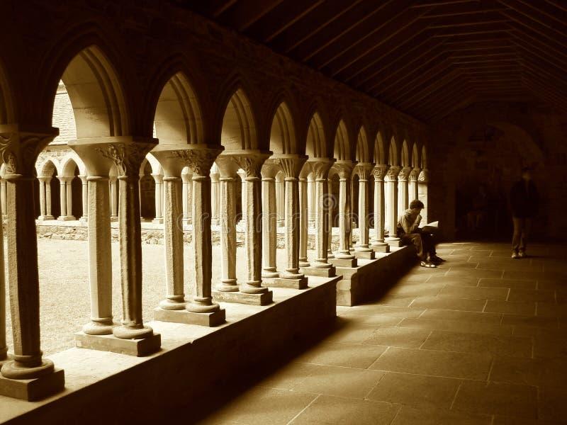 Iona abbey cloister royalty free stock photography