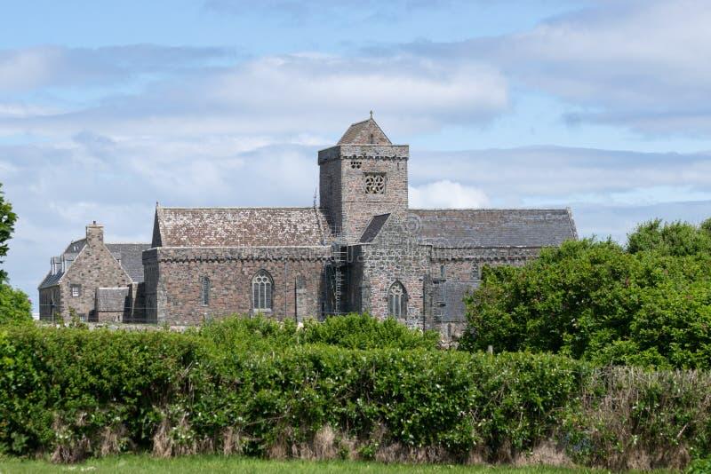 Iona Abbey em Iona, Escócia, Reino Unido foto de stock royalty free