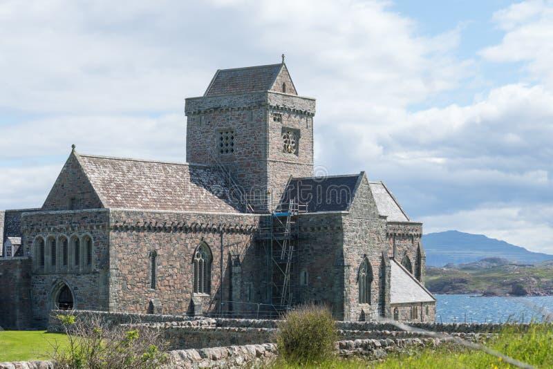 Iona Abbey en Iona, Escocia, Reino Unido foto de archivo libre de regalías