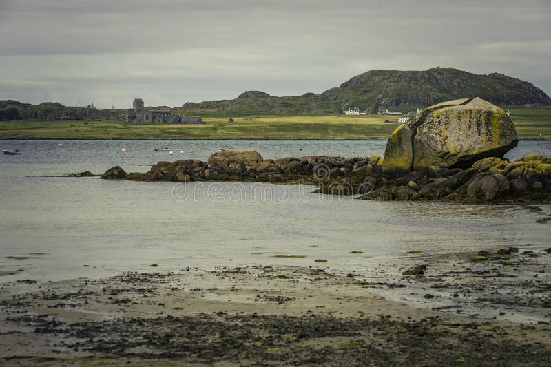 Iona Abbey From que l'île de chauffent photographie stock