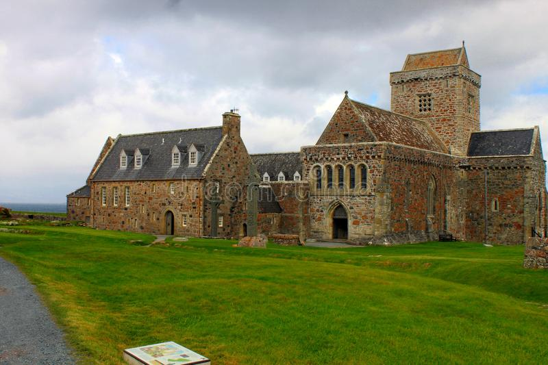 Download Iona Abbey stock photo. Image of cloudscape, building - 32182216
