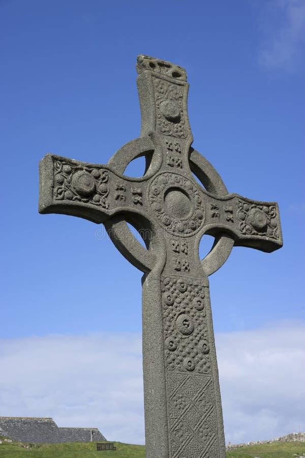 Iona Abbey - St John's Cross royalty free stock image