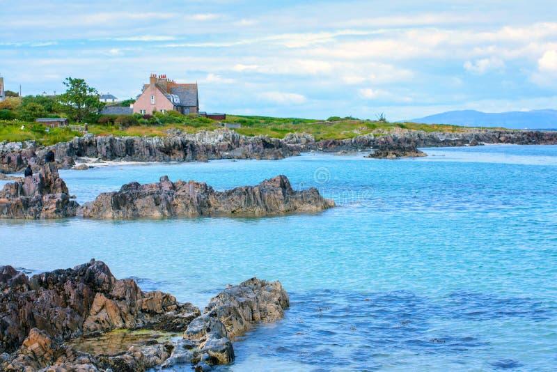 Iona, una pequeña isla en el Hebrides interno, Escocia fotografía de archivo