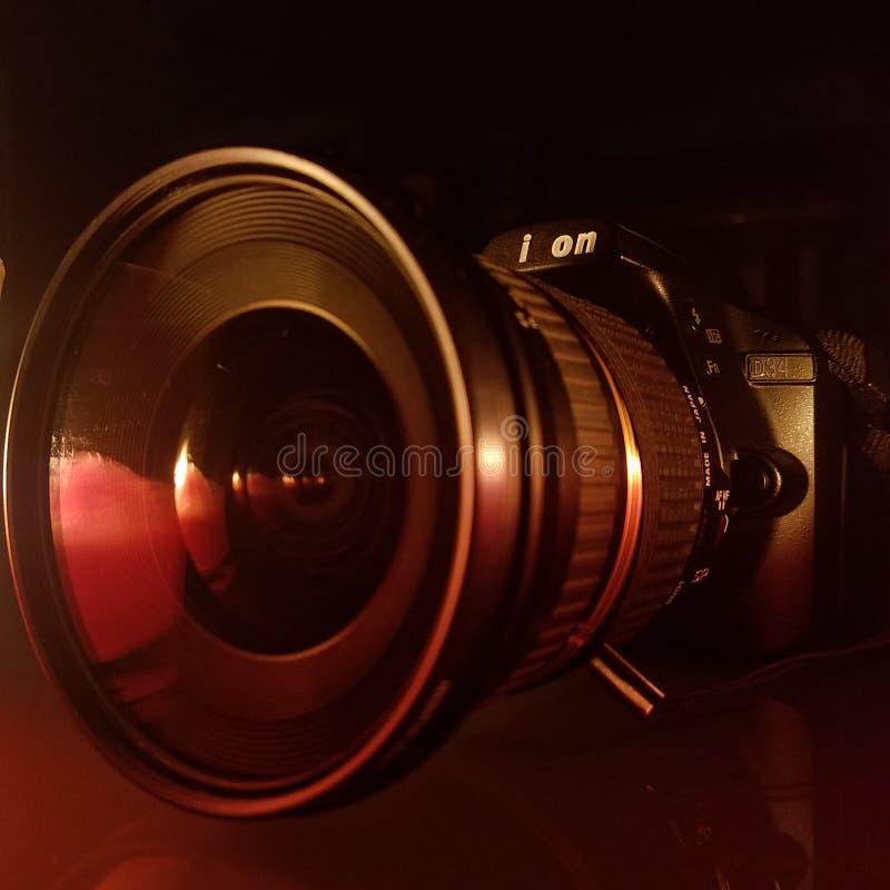 Iond34 reflexion der Linse stockbild