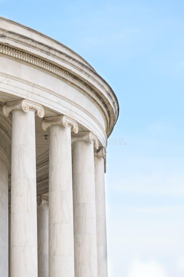 Ionenspalten bei Jefferson Memorial lizenzfreie stockfotos