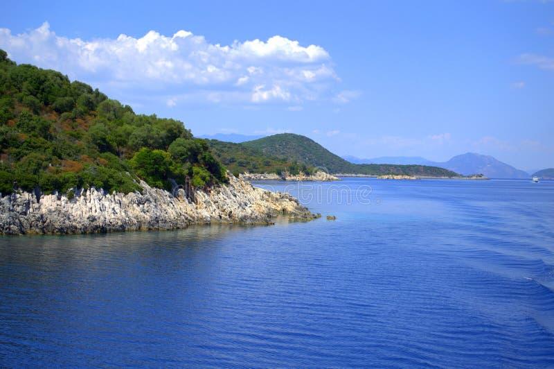 Ionian öar landskap, Grekland arkivfoton