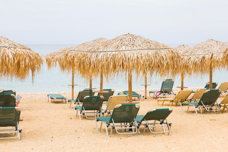 Ionian morza plaża obraz royalty free
