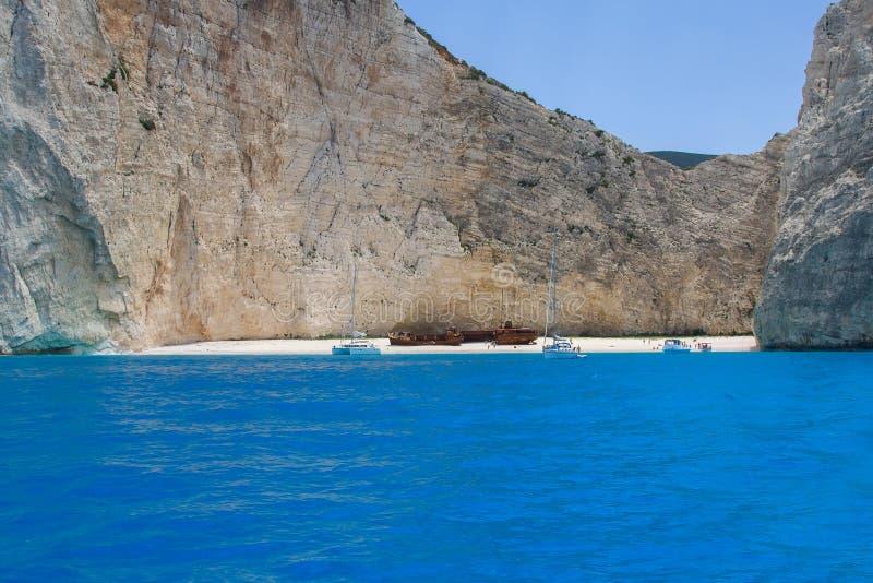 Ionian sea, Bay shipwreck stock photos
