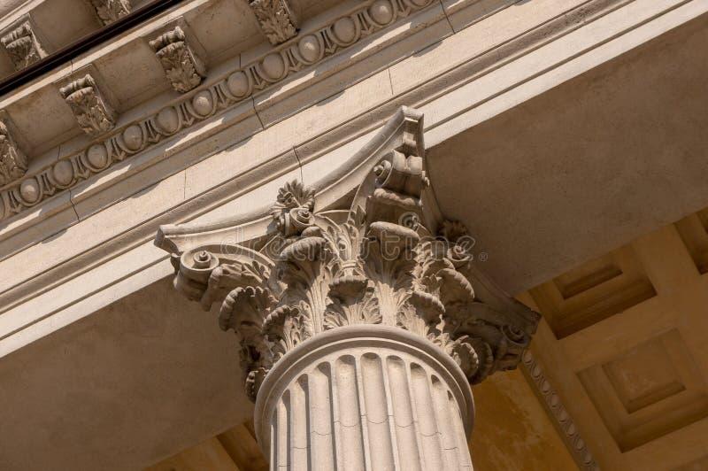 Ionian szpaltowego kapitału architektoniczny szczegół obraz stock