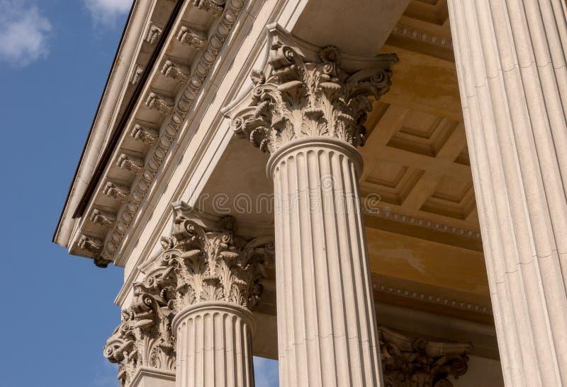 Ionian szpaltowego kapitału architektoniczny szczegół zdjęcia royalty free