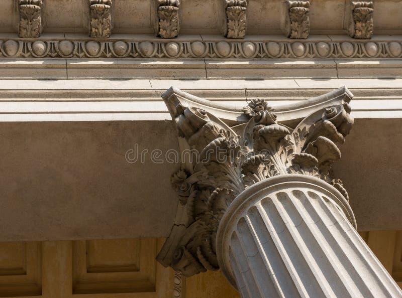Ionian szpaltowego kapitału architektoniczny szczegół fotografia stock
