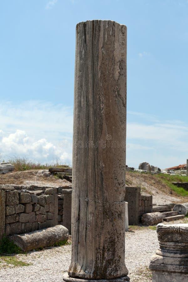 Ionian szpaltowy kapitał, obraz stock