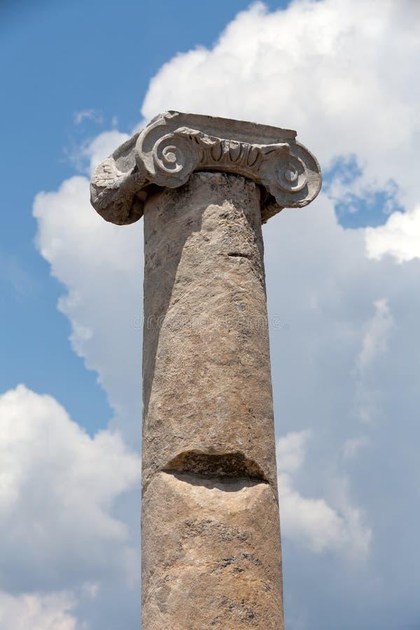 Ionian szpaltowy kapitał, fotografia royalty free