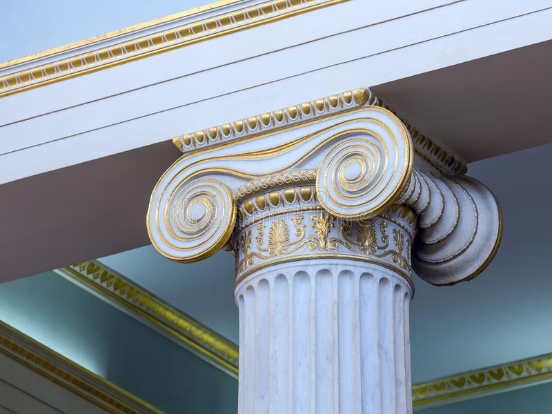 Download Ionic capital stock photo. Image of archeology, decorative - 33302712