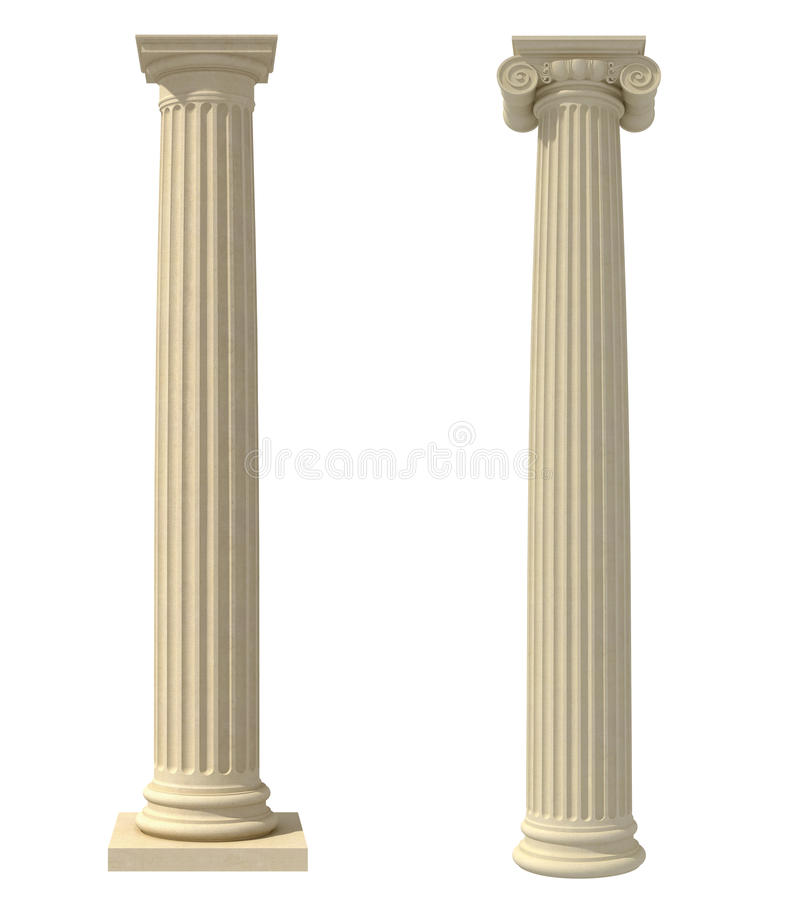 Download Ionic column stock illustration. Image of white, culture - 19707207