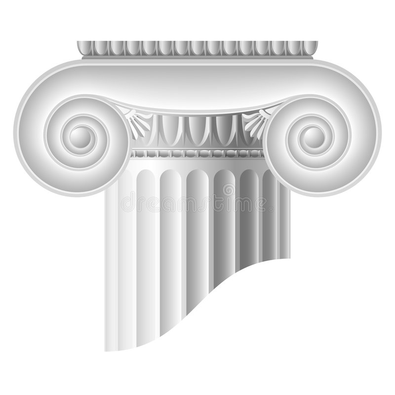 Download Ionic column stock vector. Image of column, statue, leaf - 7284605