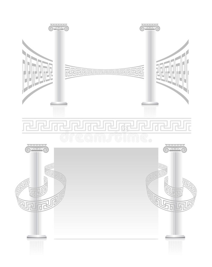 Download Ionic Column With Greek Key Pattern Stock Vector - Image: 25466296
