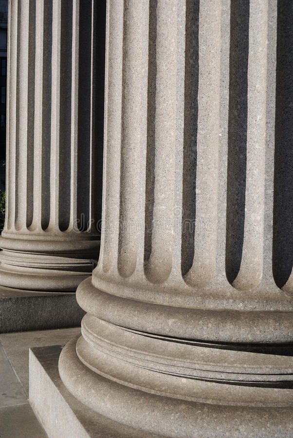 Download Ionic Columns stock image. Image of ionic, detail, united - 14590271