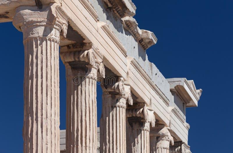 Ionic Columns of Erechtheion royalty free stock photos