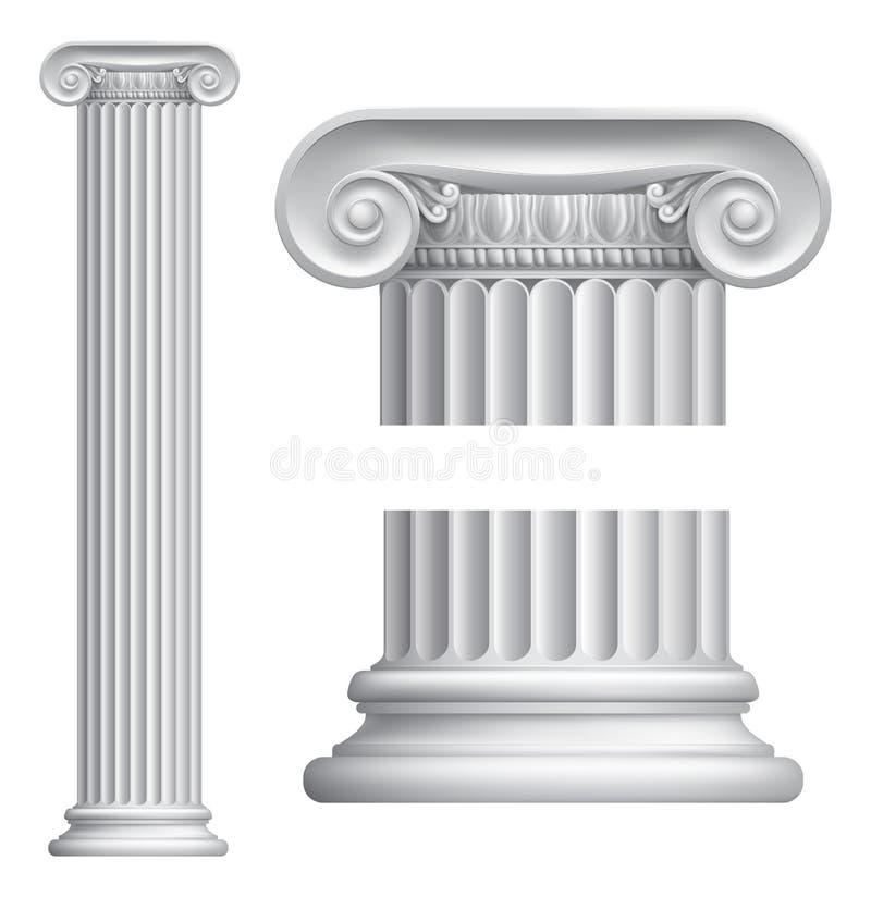 Ionic kolonn royaltyfri illustrationer
