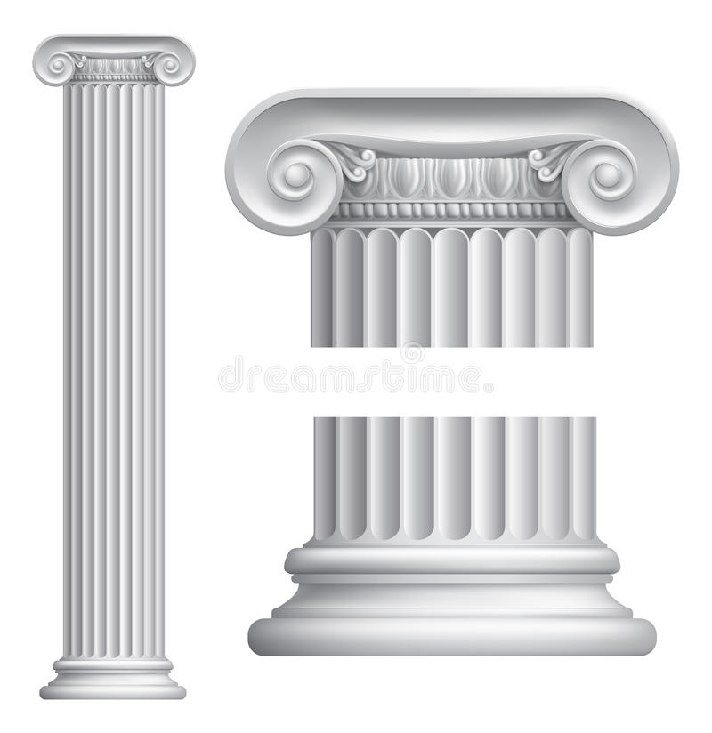 Ionische kolom royalty-vrije illustratie