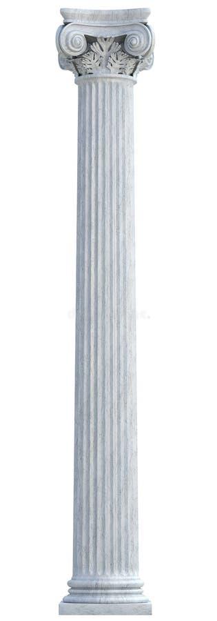 Ionische Kolom royalty-vrije stock afbeelding