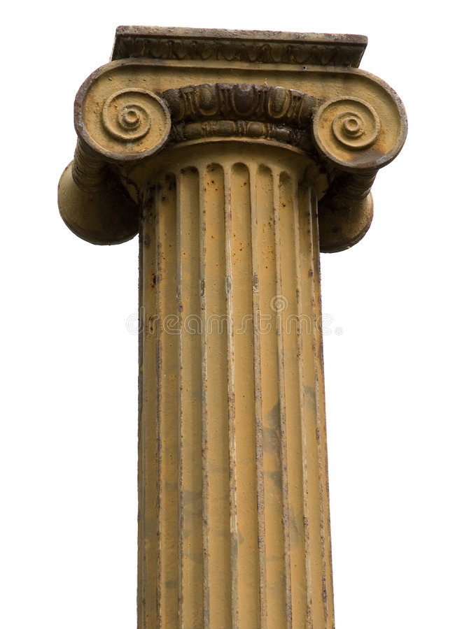 Ionische kolom royalty-vrije stock foto's
