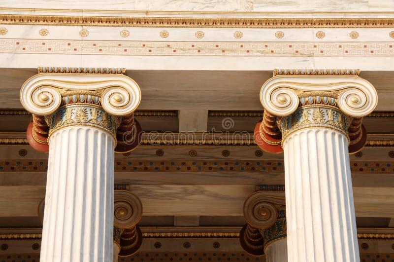 Ionische kolommen royalty-vrije stock foto's