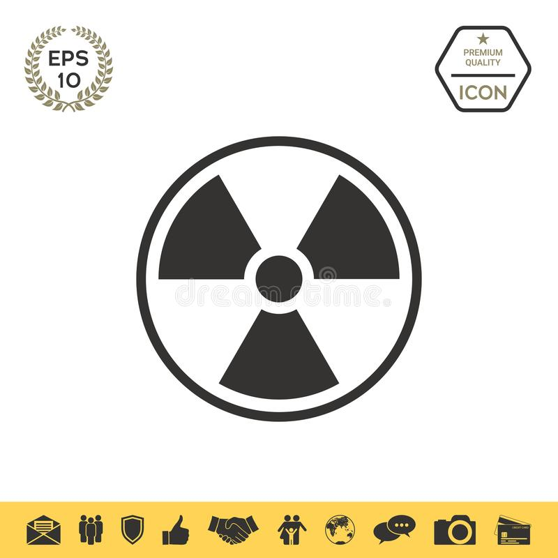 Ionizing Radiation Icon Stock Vector Illustration Of Danger 116415056