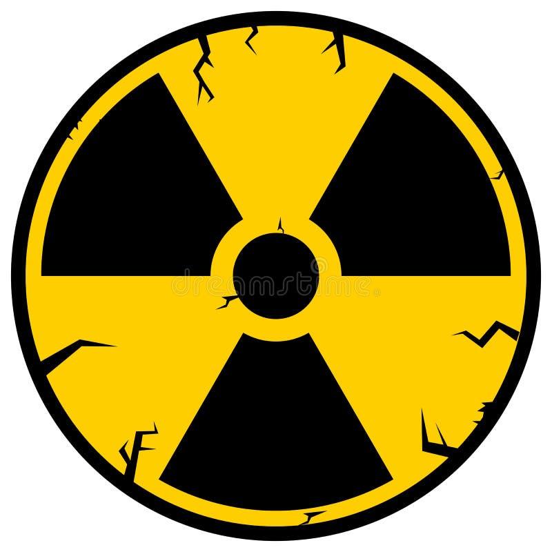 Ionizing Radiation Sign. Radioactive contamination symbol. Warning Danger Hazard stock illustration