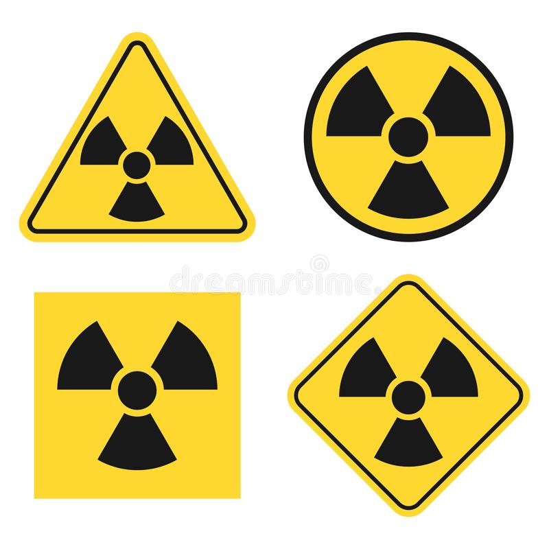 Ionizing Radiation Symbol stock illustration