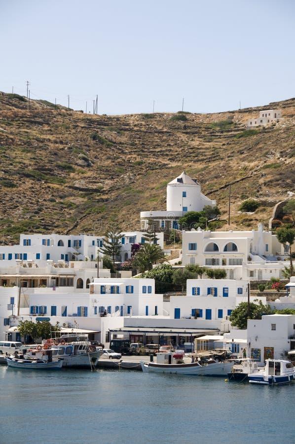 ios greece wyspy greckie portu obraz royalty free
