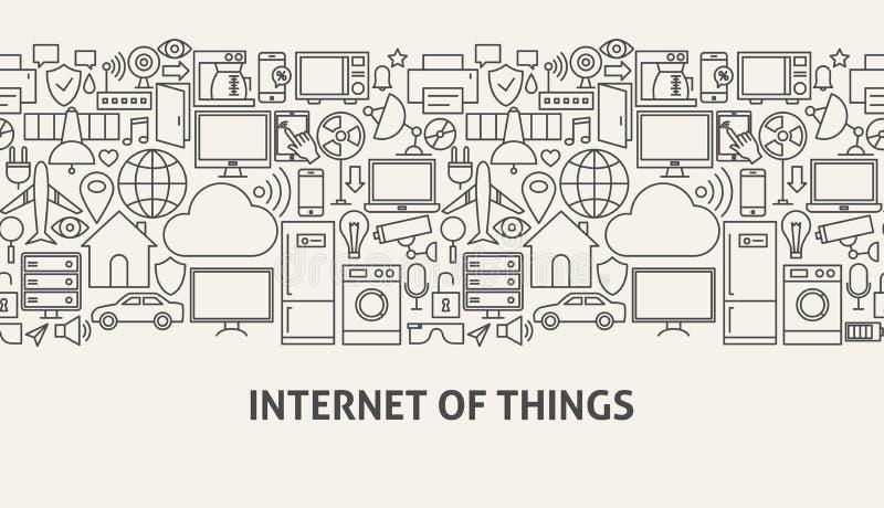 Iot横幅概念 皇族释放例证