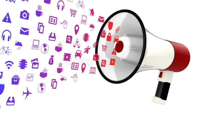 Download IOT象扩音机 库存例证. 插画 包括有 扩音机, 广告, 连接, 例证, 演讲人, 图标, 技术, 事情 - 72351405