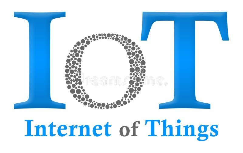 IoT - Διαδίκτυο των πραγμάτων δημιουργικό Ο διανυσματική απεικόνιση