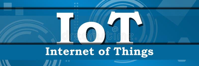 IoT - интернет предпосылки вещей технической горизонтальной иллюстрация вектора
