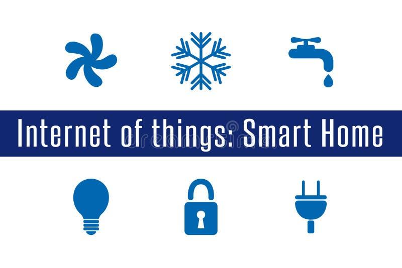 IoT -聪明的家 库存例证