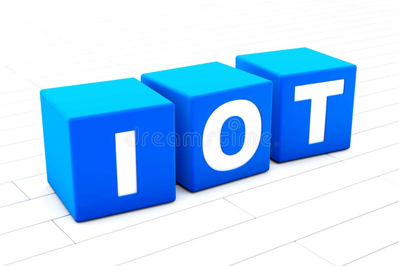 IOT-afkortingsillustratie stock illustratie